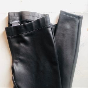 Faux leather leggings from Express